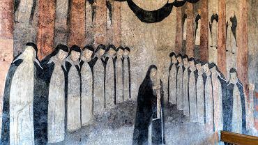 Fresk Salve Regina w byłym kościele dominikanek raciborskich
