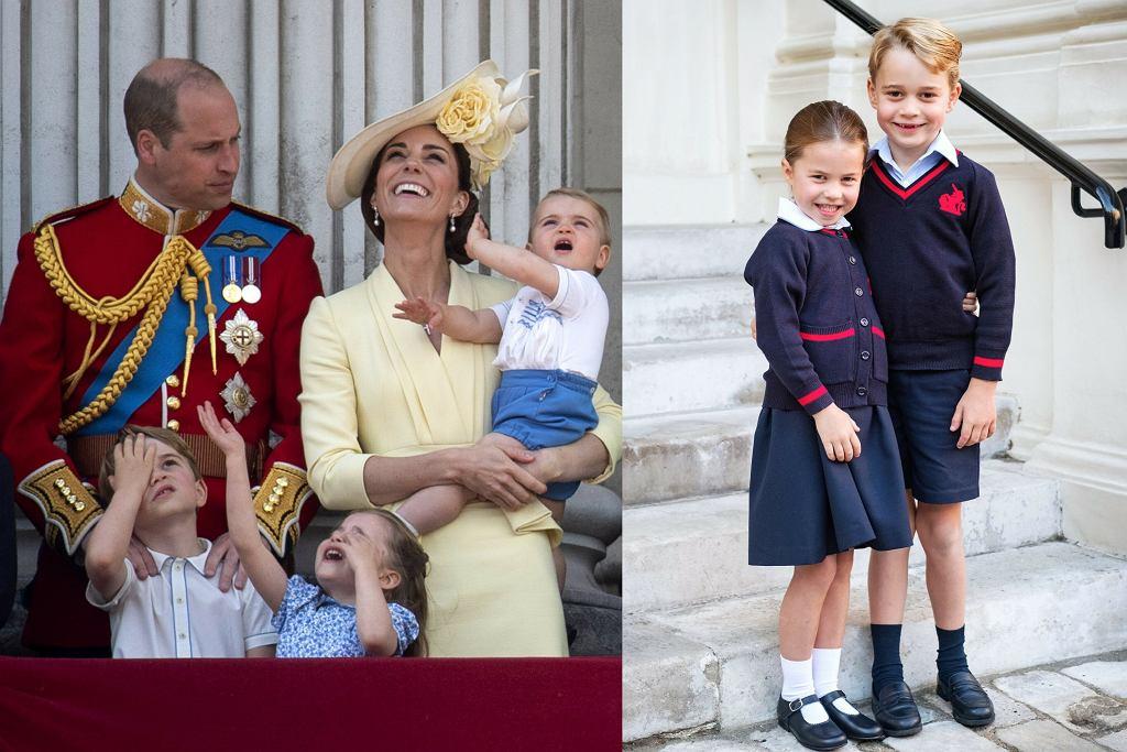 Książę William, księżna Kate, księżniczka Charlotte, książę George, książę Louis