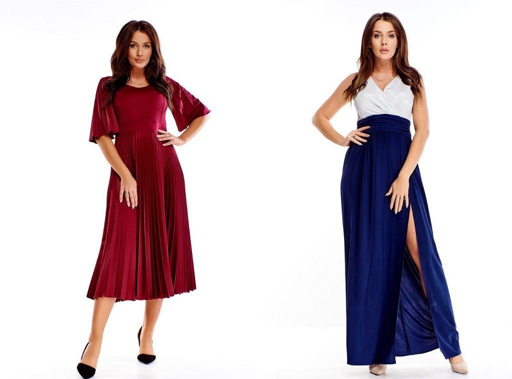 Sukienki wizytowe długie dla puszystych