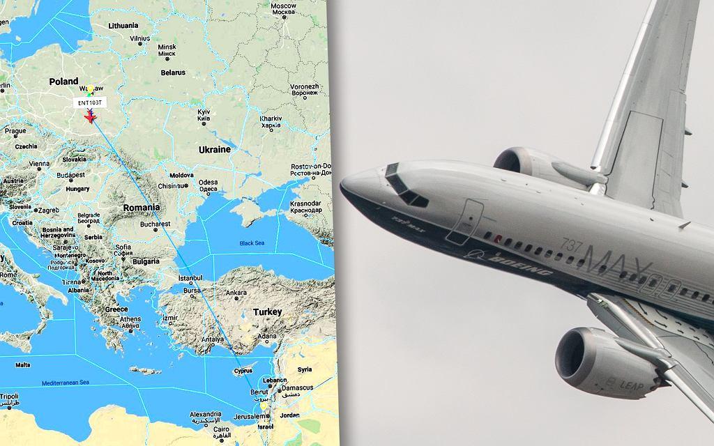 Boeing 737 Max w drodze do Tel Avivu