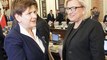Beata Szydło i szefowa jej kancelarii Beata Kempa