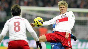 Bartosz Salamon podczas meczu Polska - San Marino, eliminacje do mistrzostw świata 2014