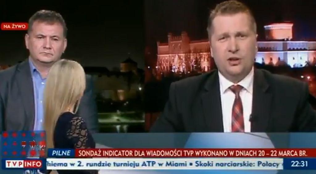 Wojewoda lubelski Przemysław Czarnek stwierdził w TVP Info, że ze związku dwóch mężczyzn mogą się zrodzić tylko kamienie nerkowe