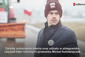 Lider rolników z zarzutami za protesty w Warszawie