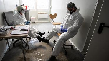 Pandemia koronawirusa. Medycy pracujący w Samodzielnym Publicznym Szpitalu Klinicznym Nr 4. Lublin, 13 stycznia 2021