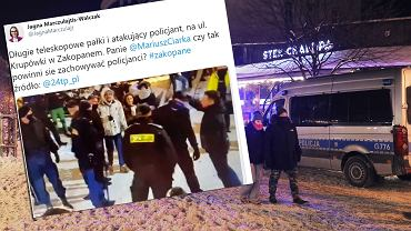 Interwencja policji na Krupówkach.