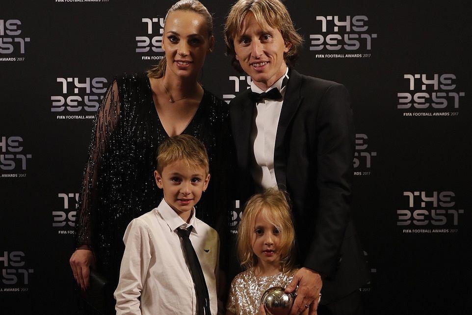 Luka Modrić z rodziną
