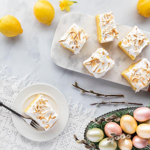 Wielkanocne ciasto cytrynowe z bezą