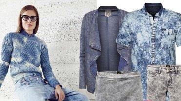 """Melanżowe, rozmyte kolory, marmurkowy odcień dżinsu, materiały z efektem sprania to jedne z najgorętszych trendów sezonu wiosna - lato 2015. W galerii prezentujemy najciekawsze ubrania i dodatki z wiosennych kolekcji z efektem """"washed out jeans"""". Tego typu propozycje świetnie sprawdzą się zarówno jako total look - nadając stylizacji bardziej grunge'owego, nonszalanckiego charakteru, jak i w romantycznej, dziewczęcej odsłonie - dopełnione elementami w odcieniach bieli, beżu lub pasteli."""