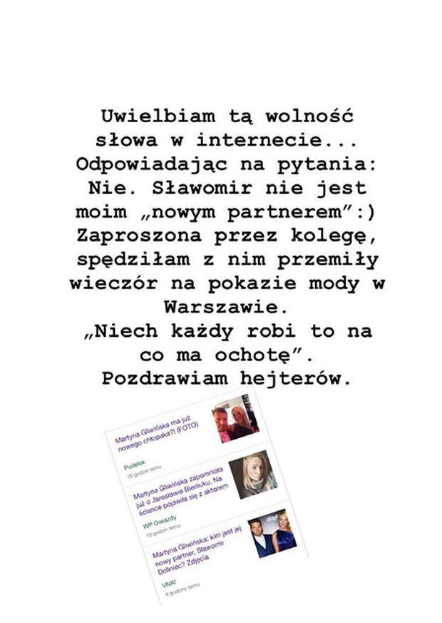 Martyna Gliwińska ma nowego partnera?