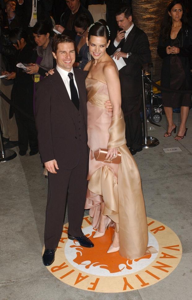 02/25/2007 - Tom Cruise and Katie Holmes - 2007 Vanity Fair Oscar Party - Morton's - West Hollywood, CA, USA - Keywords: Oscars, The Academy Awards -  -  - Photo Credit: Albert L. Ortega / PR Photos - Contact (1-866-551-7827)