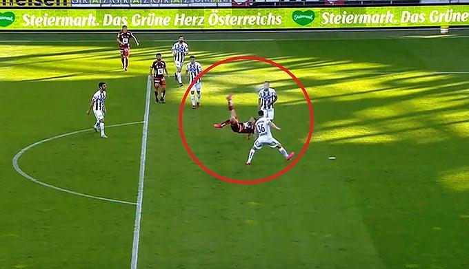Cudowny gol przewrotką w lidze austriackiej