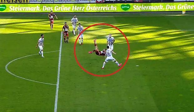 """Cudowny gol w lidze austriackiej. """"Pomyślałem, co on robi?! On jest szalony"""" [WIDEO]"""
