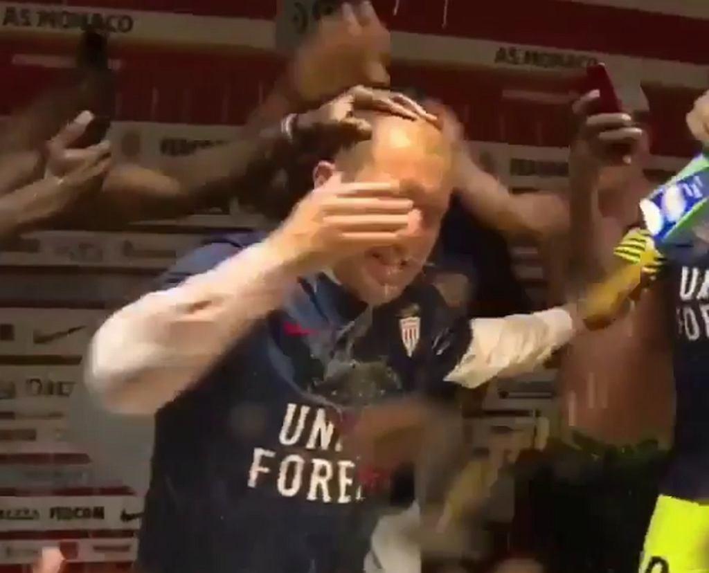 Leonardo Jardim został 'ofiarą' szalonej radość piłkarzy