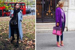 Przecenione płaszcze w intensywnych kolorach - do czego je nosić?