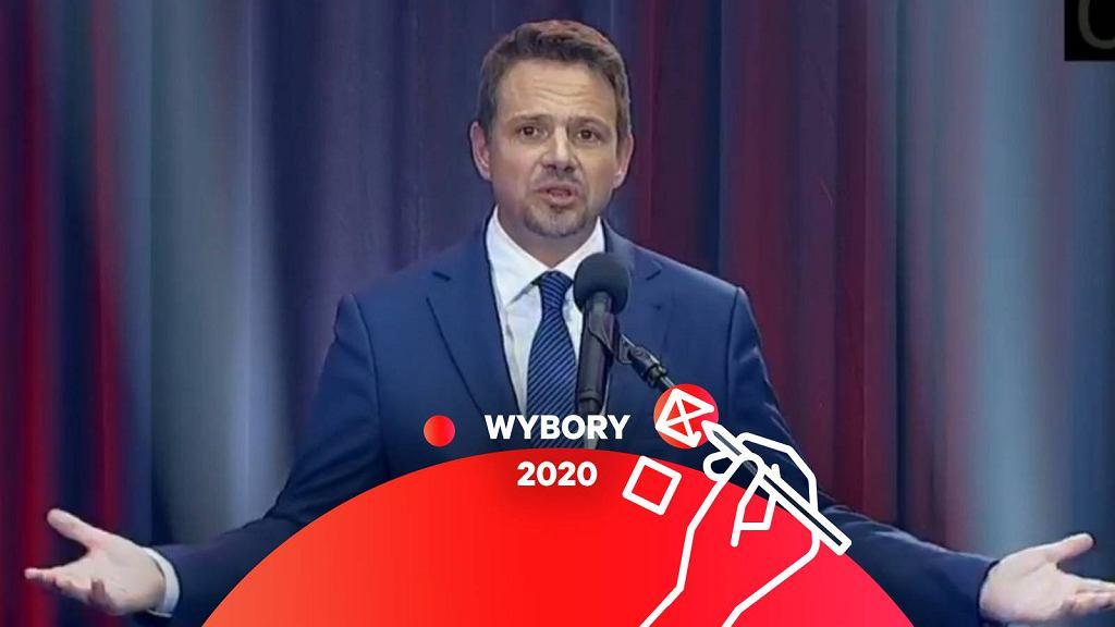 Rafał Trzaskowski podczas debaty w Lesznie.