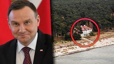 Prezydent Andrzej Duda ma do dyspozycji w Polsce kilka rezydencji, m.in. tę na Półwyspie Helskim