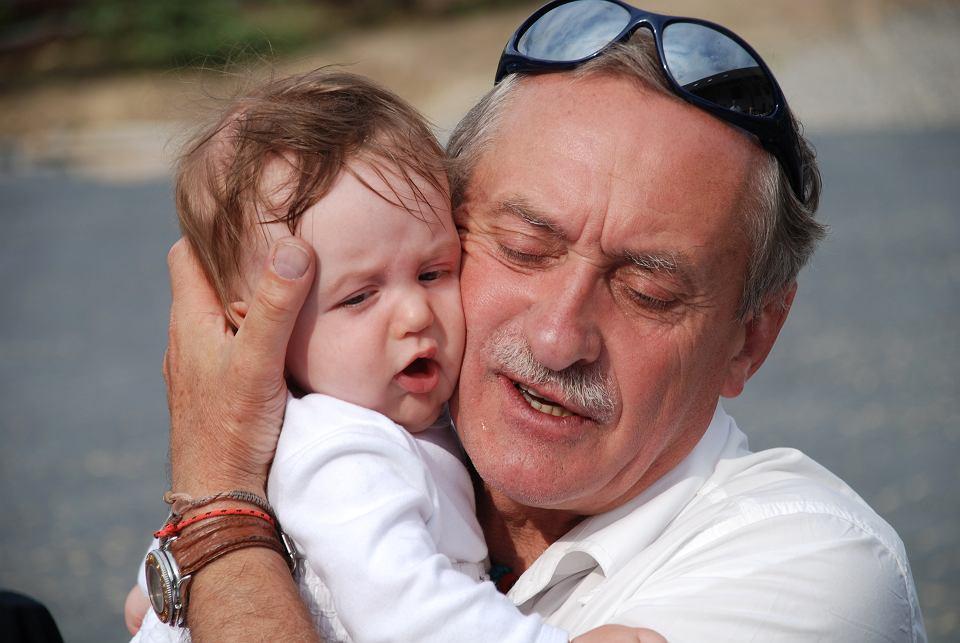 Krzysztof Wielicki z najmłodszym dzieckiem, synem Krzysztofem, 2009 r.