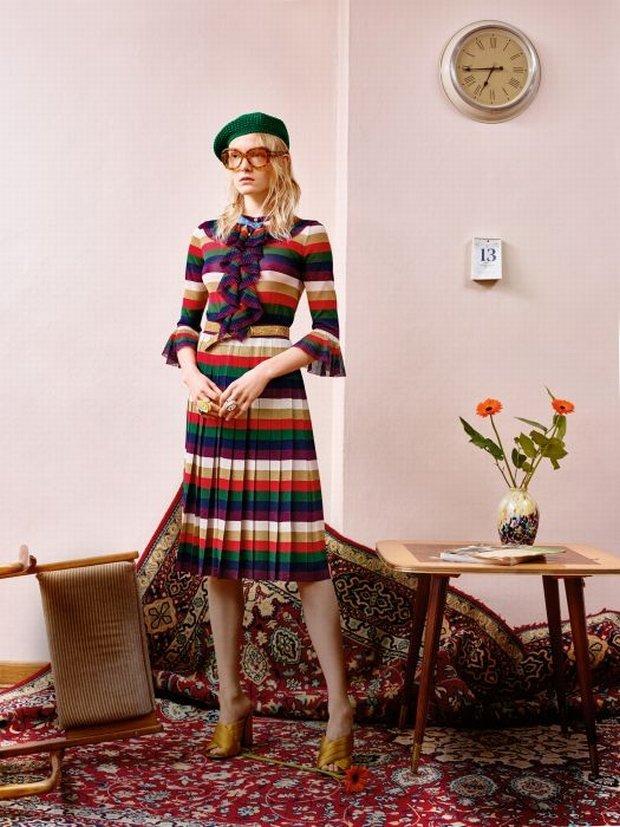 Maja Salamon w sesji z ubraniami Gucci dla 'Glamour'