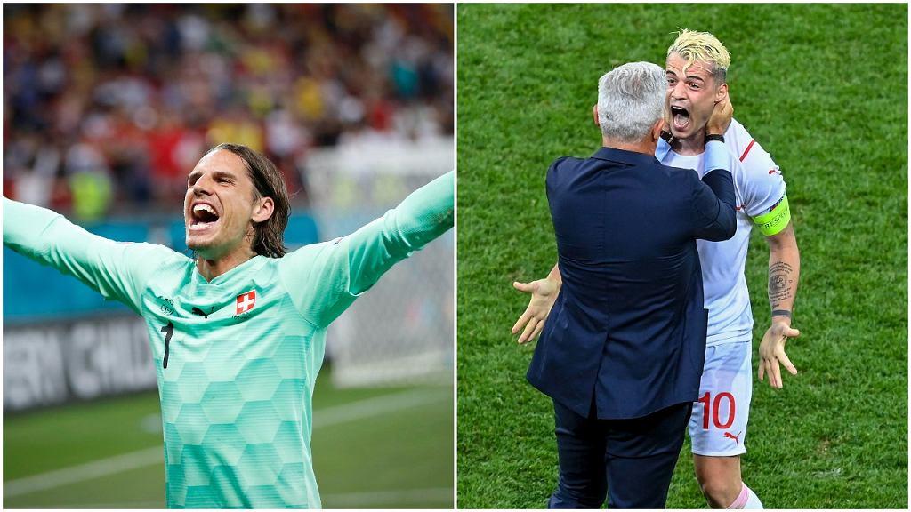 Szwajcaria świętuje pokonanie Francji w 1/8 finału Euro 2020