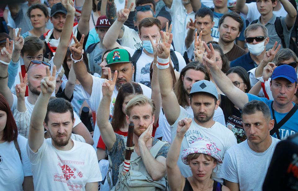 Protest w Mińsku, 17 sierpnia 2020 r.