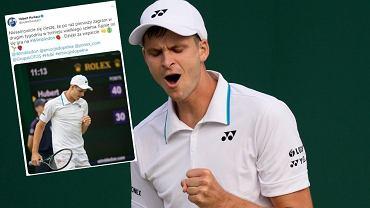 Hubert Hurkacz komentuje awans do czwartej rundy Wimbledonu. 'Niesamowicie się cieszę'