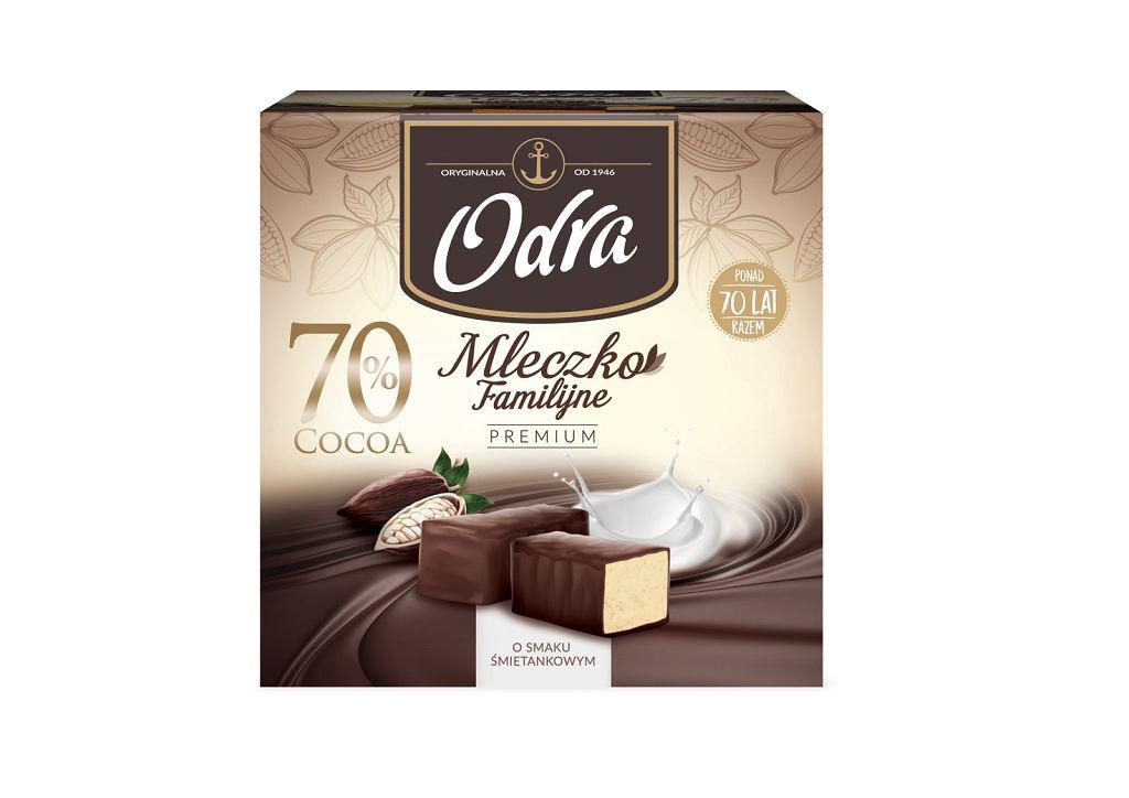 Mleczko 70% Cocoa śmietankowe marki Odra