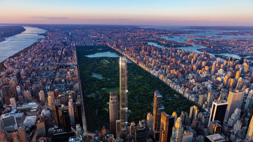 Wizualizacja budynku Central Park Tower