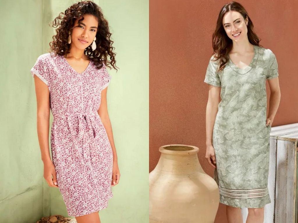 sukienki z lnem na lato