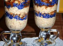Ryżowy deser z karmelem i bławatkami - ugotuj