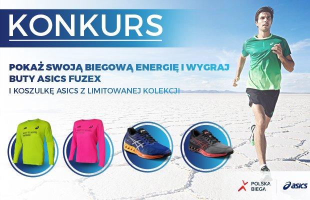 konkurs, fuzex, asics, pokaż swoją biegową energię