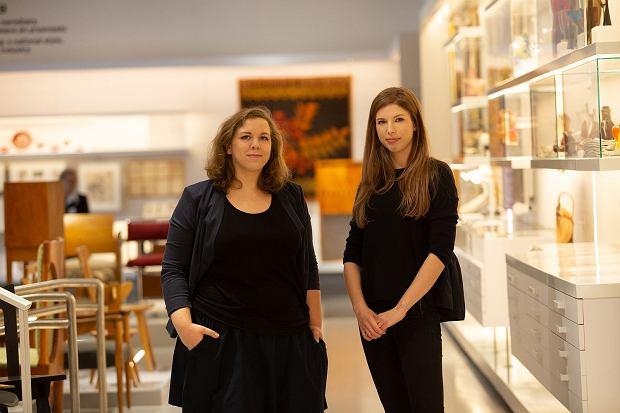 Anna Szałas i Aleksandra Długołęcka w Galerii Wzornictwa Polskiego