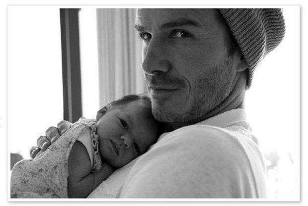 David BEckham z pierwszą i jedyną córką - Harper Seven Beckham