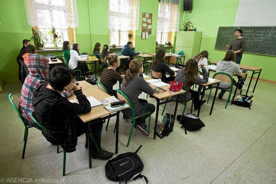 Lekcja języka polskiego w Gimnazjum nr 22 w Bielsku-Białej
