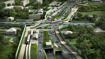 Trasa Łagiewnicka - skrzyżowanie ulic Turowicza i Herberta