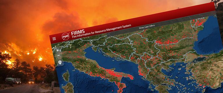 Wakacje w Turcji, Grecji, Chorwacji? Sprawdź na tej mapie, gdzie są pożary