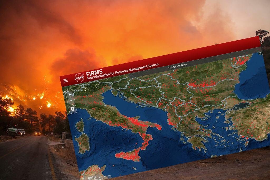 Pożary w Europie i na świecie (zdjęcie ilustracyjne