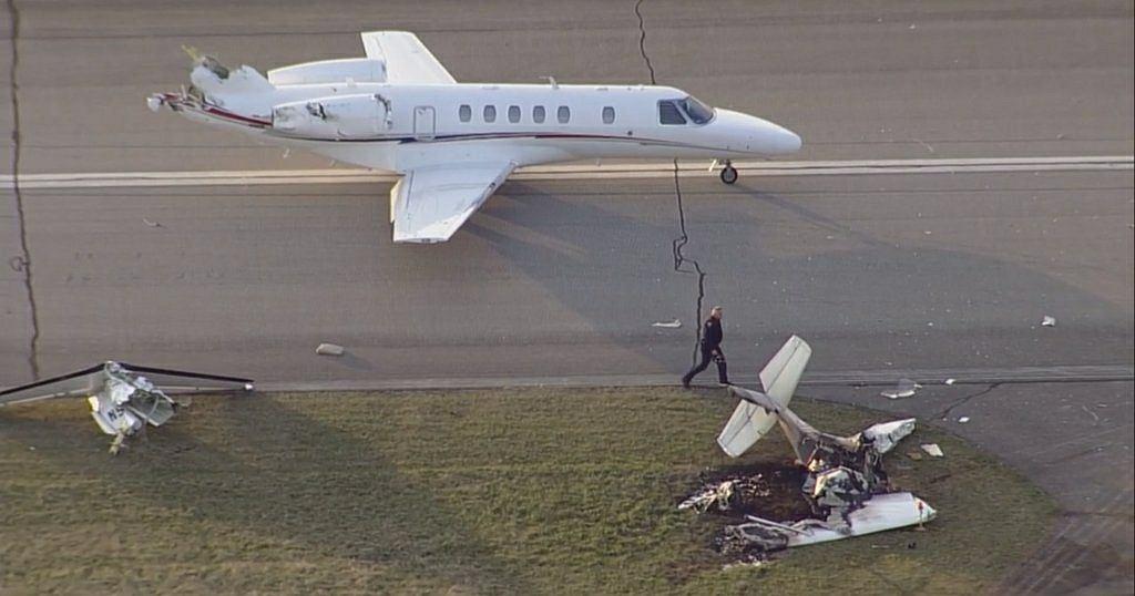 Wypadek samolotów w USA