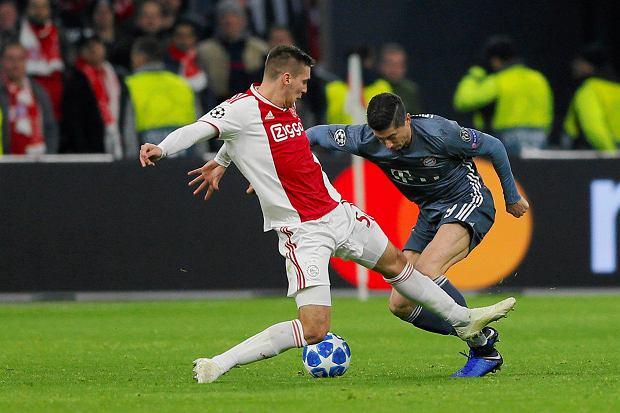 Zdjęcie numer 5 w galerii - Liga Mistrzów. Szalony mecz w Amsterdamie! Dwie bramki Roberta Lewandowskiego