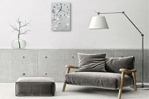 Trend: nowoczesne zegary na szkle