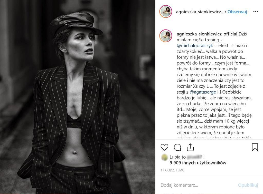 Agnieszka Sienkiewicz przytyła w ciąży 10 kilogramów