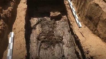 Szkielet znaleziony w Smoleńsku (fot.Twitter/@CNN)