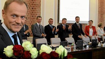Donald Tusk odbiera gratulacje w związku z wyborem na przewodniczącego RE