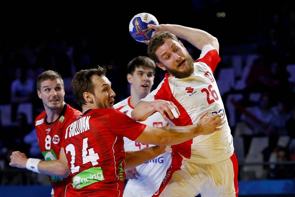 Michał Daszek w meczu Polska - Norwegia