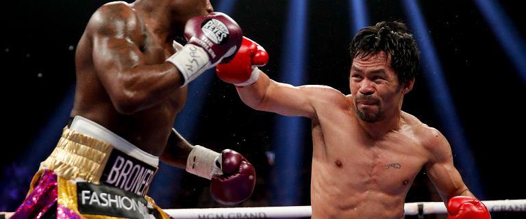 Boks. Manny Pacquiao za szybki dla Adriena Bronera. Cios prosto w szczękę [WIDEO]