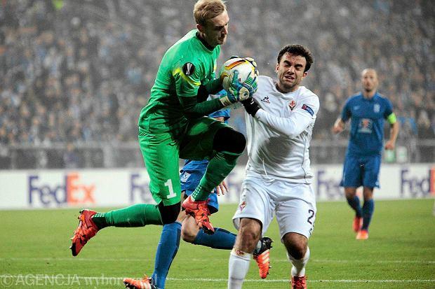 Lech Poznań - Fiorentina 0:2 w Lidze Europejskiej. Jasmin Burić