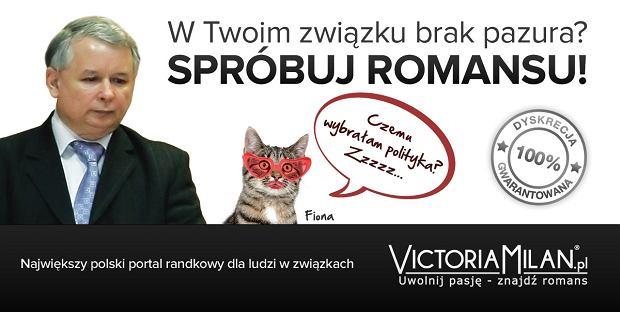 Firma zaprezentowała drugą wersję plakatu - z wizerunkiem Jarosława Kaczyńskiego