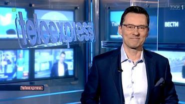 Krzysztof Ziemiec debiutuje w 'Teleexpressie' i wita widzów: Sam nie przypuszczałem, że tak kiedyś będzie