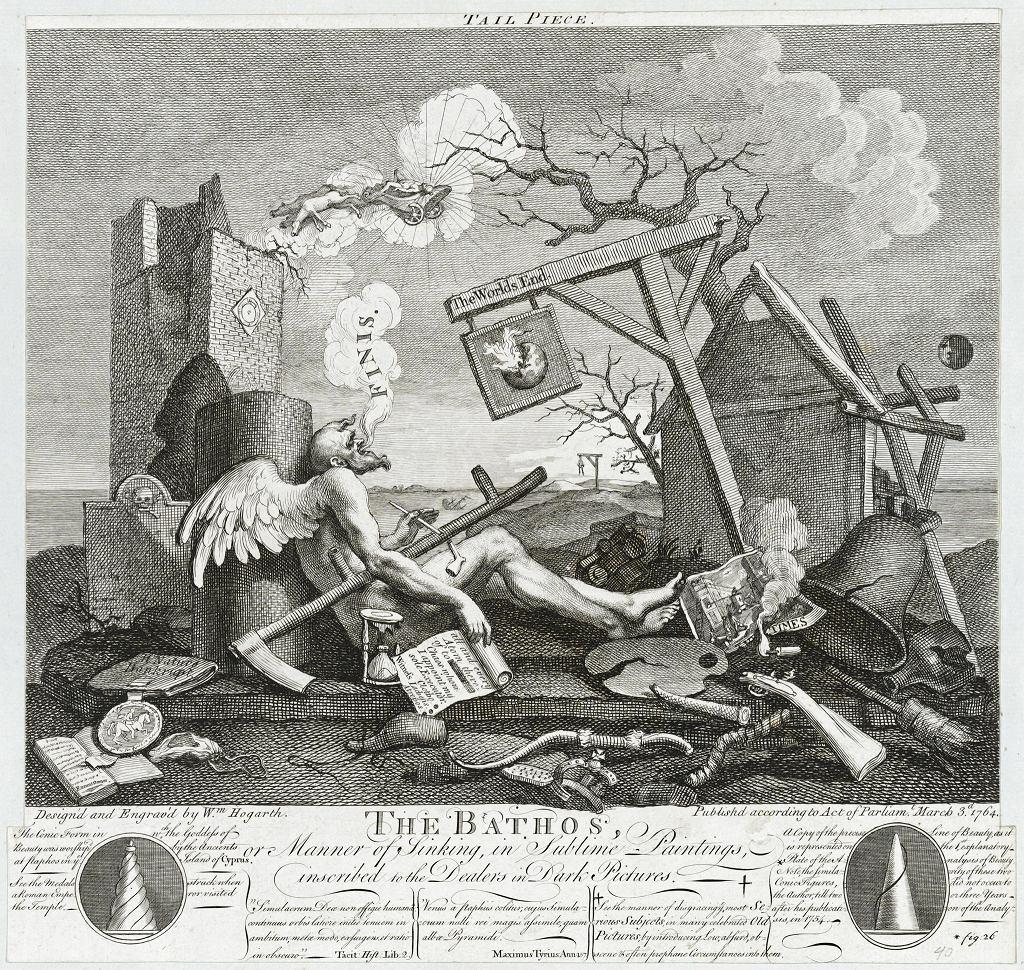 Wystawa 'Czym jest Oświecenie?' w Muzeum Sztuki Nowoczesnej. William Hogarth (1697-1764), 'Tailpiece' lub 'The Bathos', 1764.  / BUW