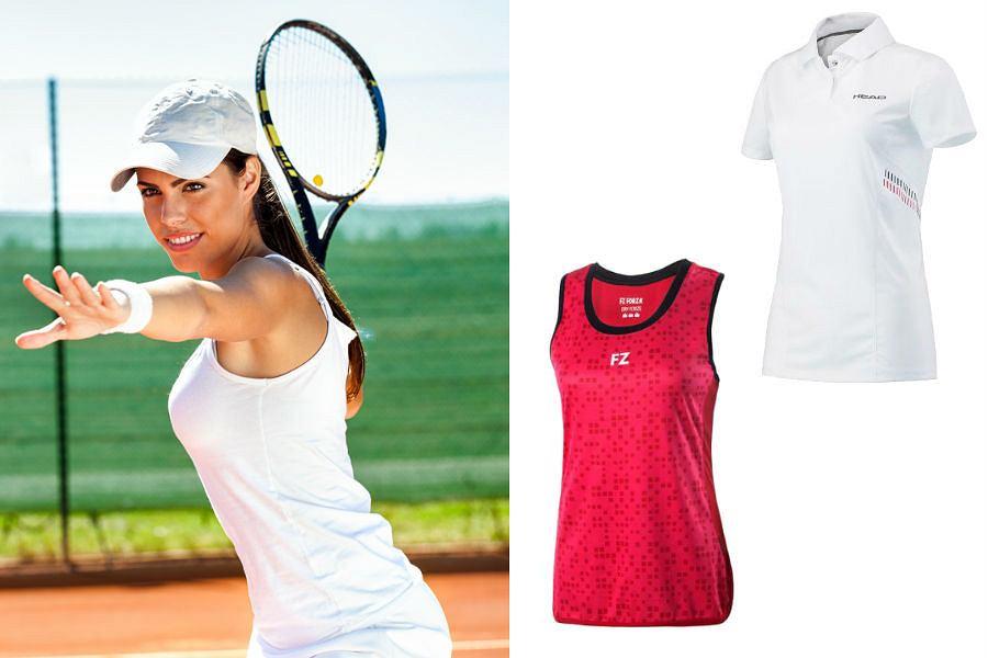 Kolaż / Odzież tenisowa / Materiały partnerów